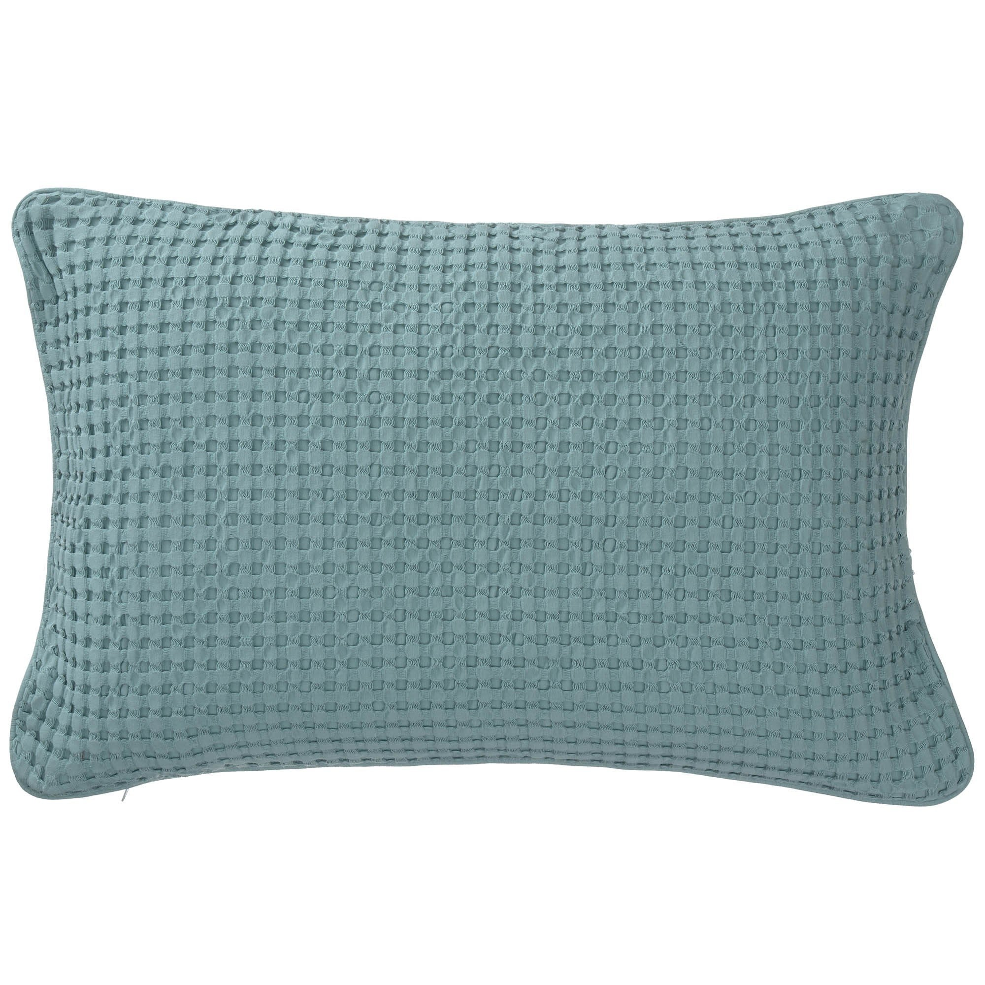 Veiros cushion cover, green grey, 100% cotton