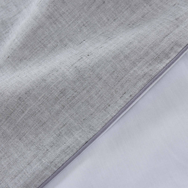 Sameiro pillowcase, grey & white & charcoal, 100% linen & 100% organic cotton |High quality homewares