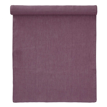 Teis table runner, aubergine, 100% linen