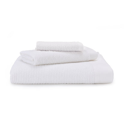 Faro hand towel, white, 75% cotton & 25% linen
