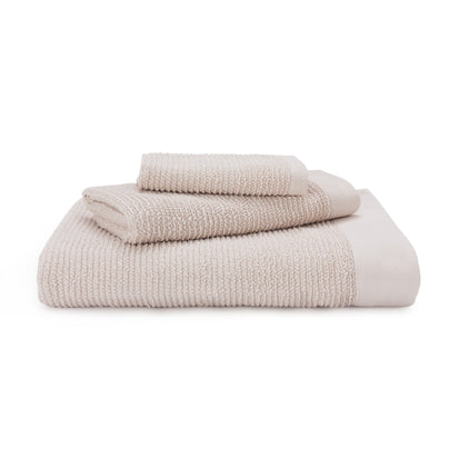 Faro hand towel, natural, 75% cotton & 25% linen