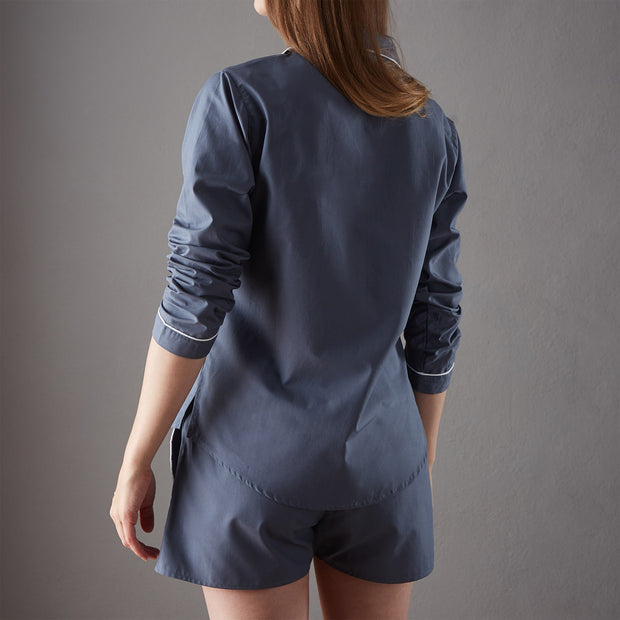 Dark grey blue & White Alva Pyjama | Home & Living inspiration | URBANARA