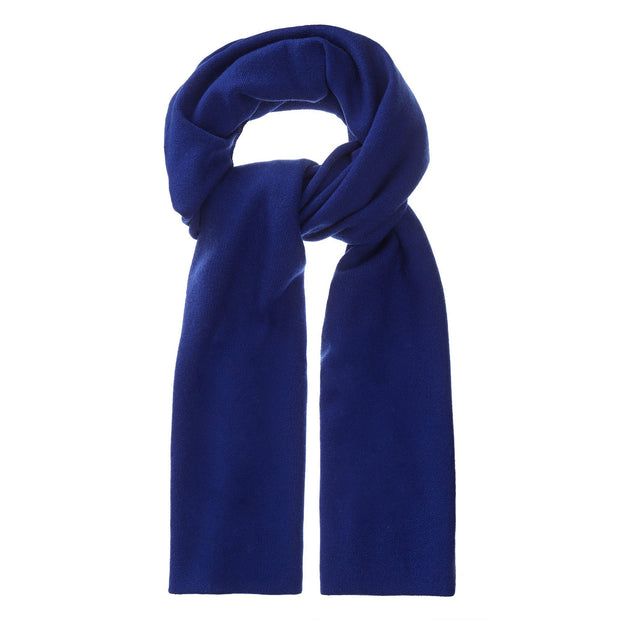 Nora scarf, royal blue, 50% cashmere wool & 50% wool