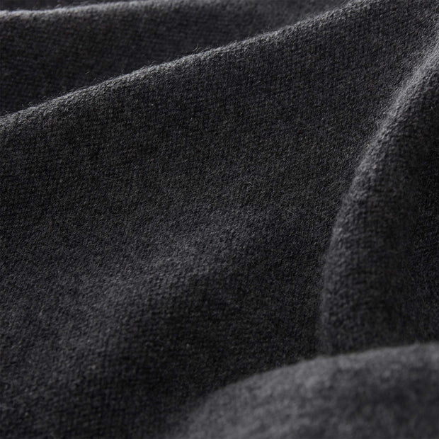 Nora scarf, charcoal, 50% cashmere wool & 50% wool | URBANARA hats & scarves