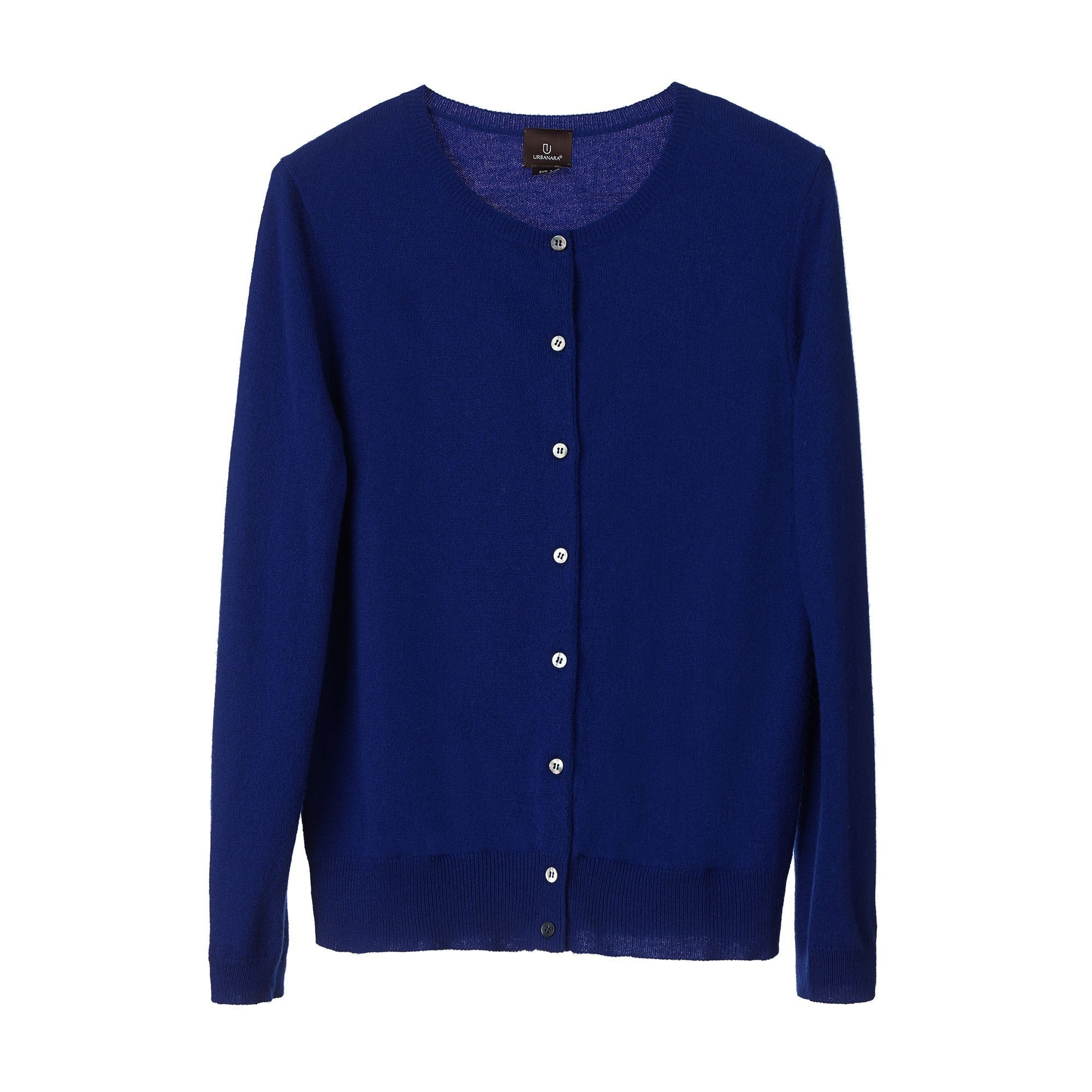 Nora cardigan, royal blue, 50% cashmere wool & 50% wool