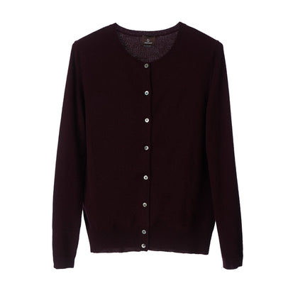 Nora cardigan, bordeaux red, 50% cashmere wool & 50% wool