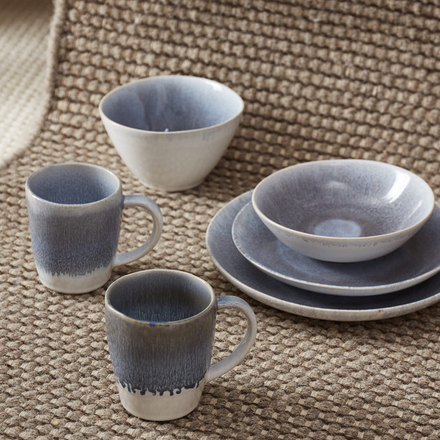 Caima Plate Set in blue grey | Home & Living inspiration | URBANARA