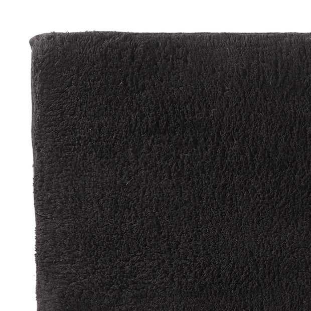 Banas bath mat, charcoal, 100% cotton | URBANARA bath mats