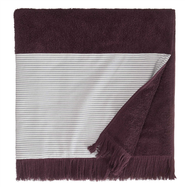Luni beach towel, aubergine, 100% cotton | URBANARA beach towels