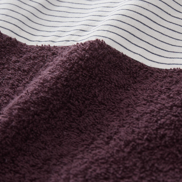 Luni beach towel, aubergine, 100% cotton |High quality homewares
