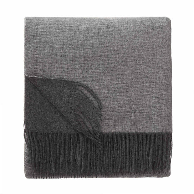 Sontra blanket, charcoal melange & light grey melange, 10% cashmere wool & 90% wool