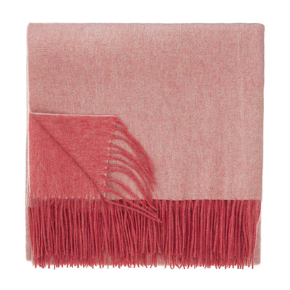 Sontra blanket, coral & ivory, 10% cashmere wool & 90% wool