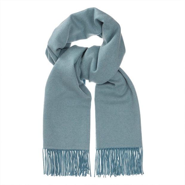 Sontra scarf, green grey & light grey green, 10% cashmere wool & 90% wool
