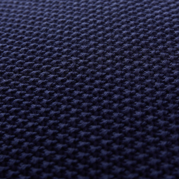 Antua cushion cover, dark blue, 100% cotton | URBANARA cushion covers