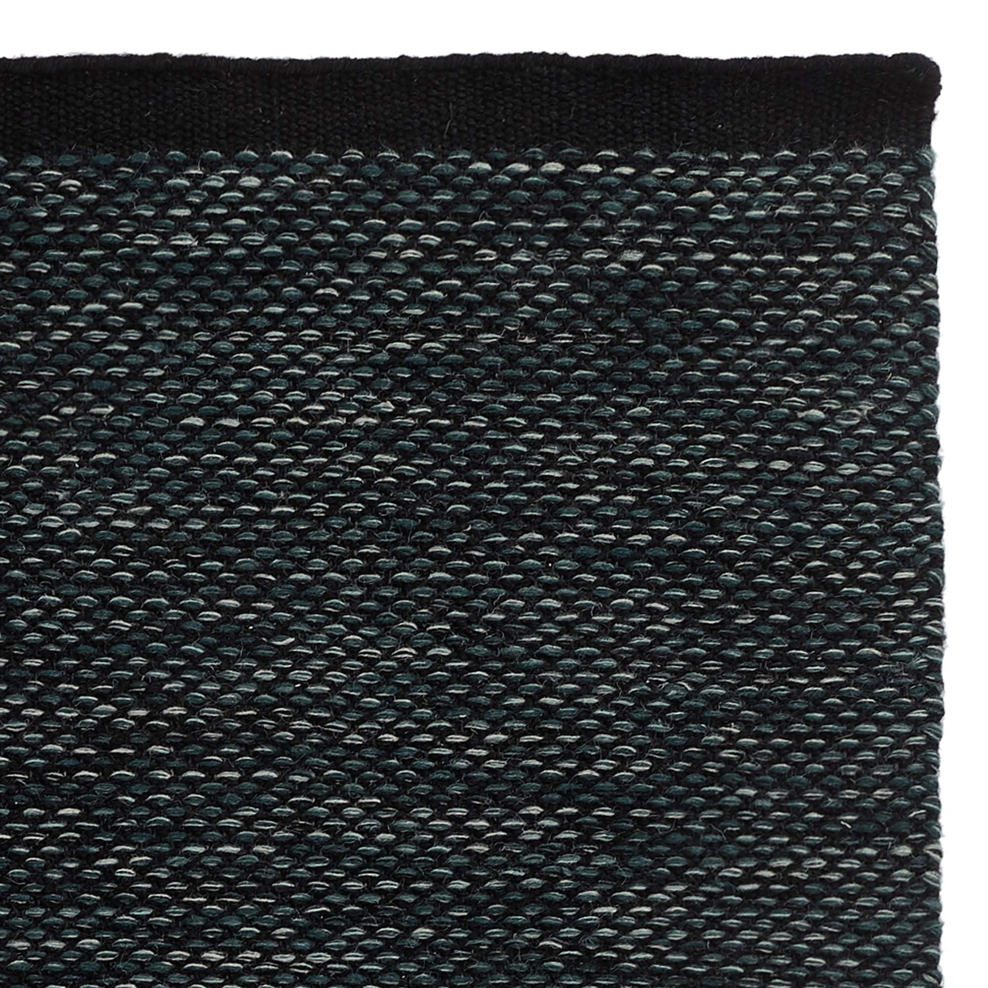 Odis rug, grey green & black, 87% new wool & 9% cotton & 4% polyester
