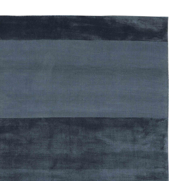 Enns rug, dark blue, 100% viscose