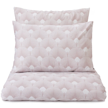 Zamora duvet cover, white & powder pink, 100% cotton