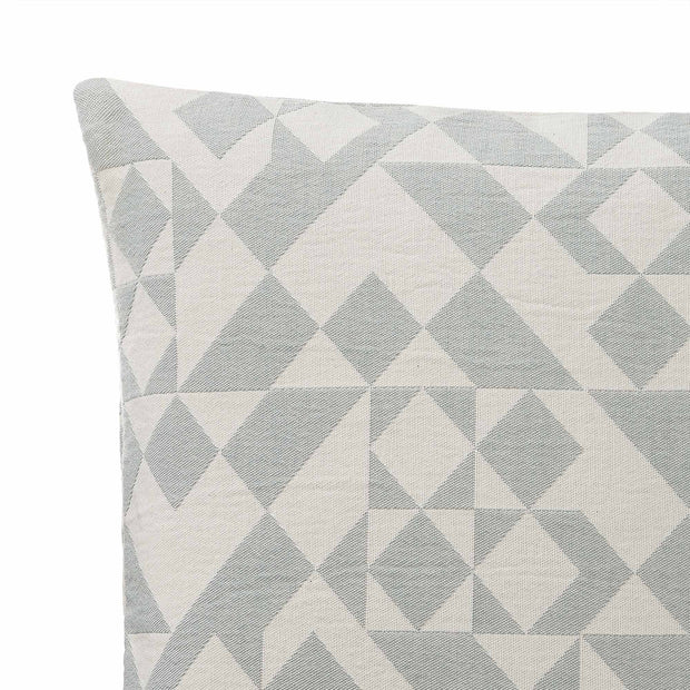 Amparo cushion cover, light grey green & natural white, 100% cotton | URBANARA cushion covers