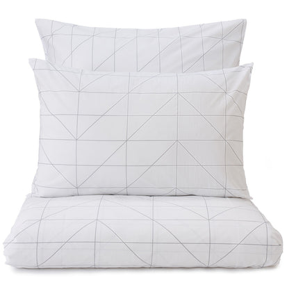 Lubian duvet cover, white & grey, 100% cotton