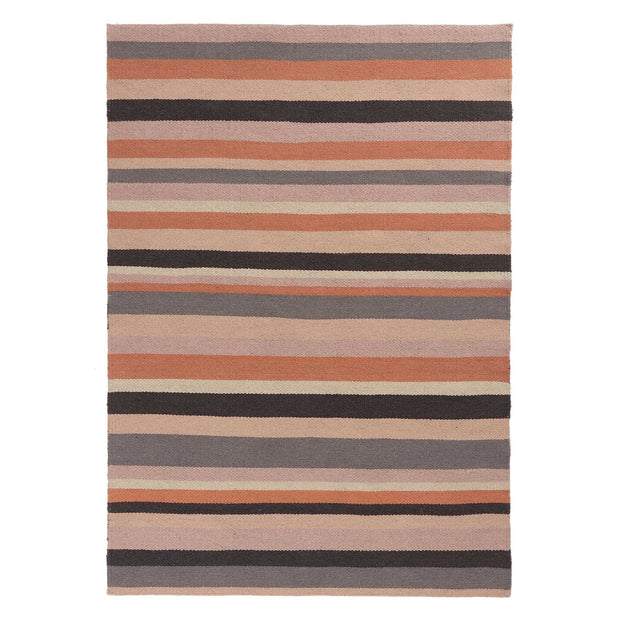 Barli rug in light pink & cognac & silver grey, 100% new wool |Find the perfect wool rugs
