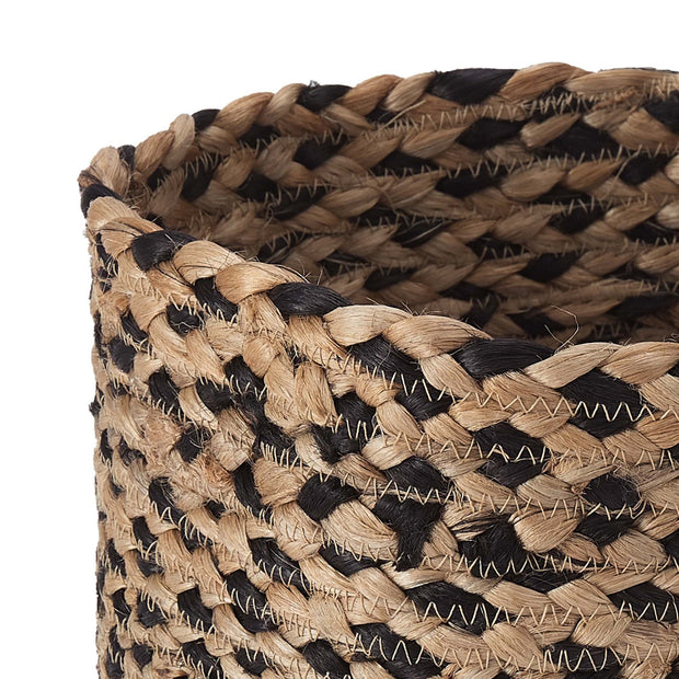 Dunagiri storage, natural & black, 100% jute |High quality homewares
