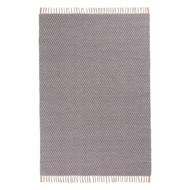 Jelum rug, grey & natural white, 100% cotton | URBANARA cotton rugs