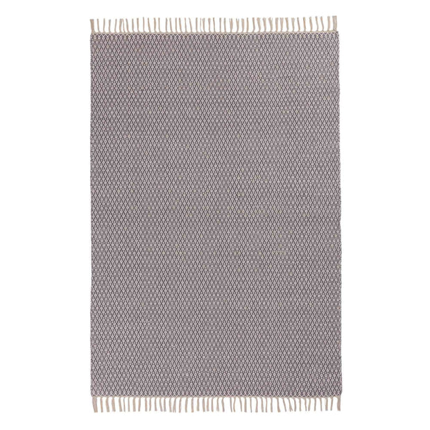 Jelum rug in grey & natural white, 100% cotton |Find the perfect cotton rugs