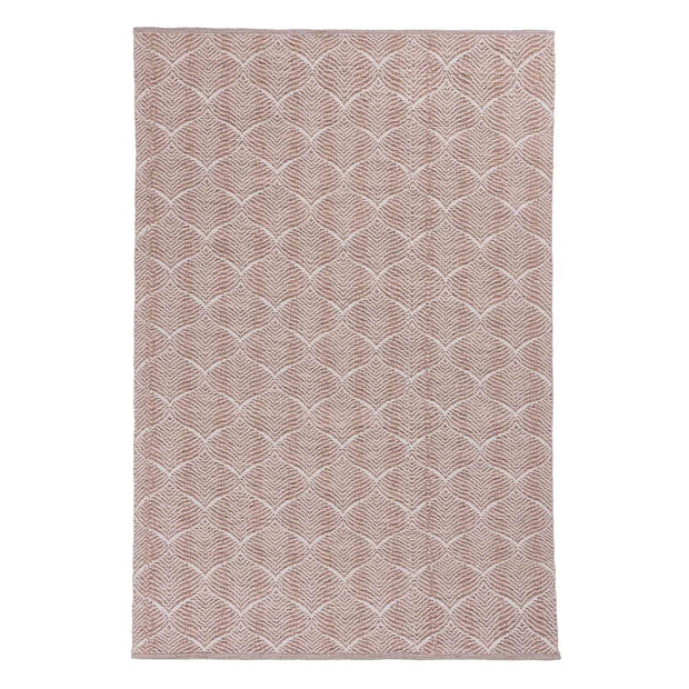 Shipry rug, dusty pink & natural white, 100% cotton | URBANARA cotton rugs