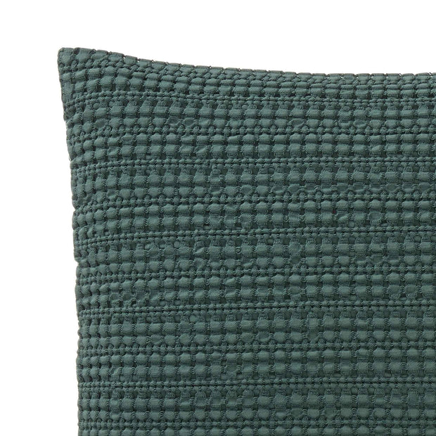 Anadia cushion cover, green, 100% cotton | URBANARA cushion covers