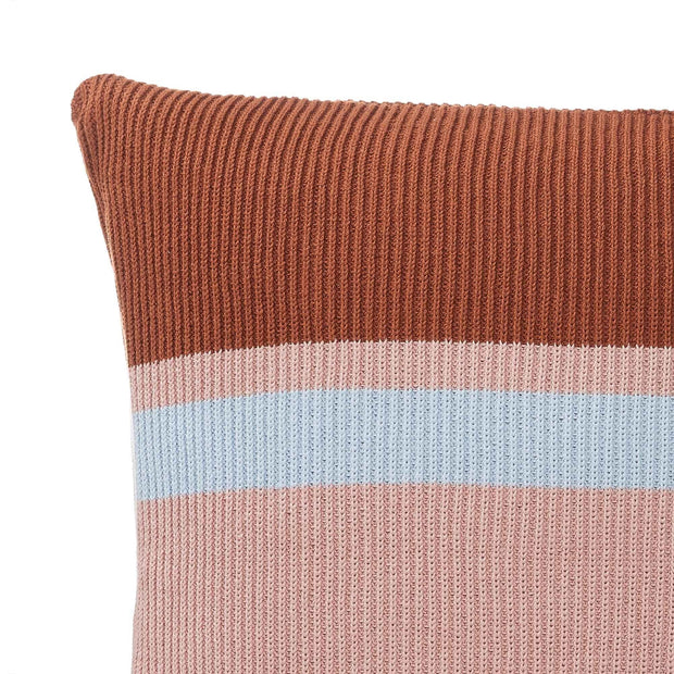 Zezere cushion cover, light pink & cognac & ice blue, 100% cotton | URBANARA cushion covers