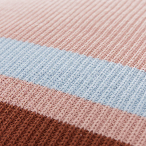 Zezere cushion cover, light pink & cognac & ice blue, 100% cotton |High quality homewares