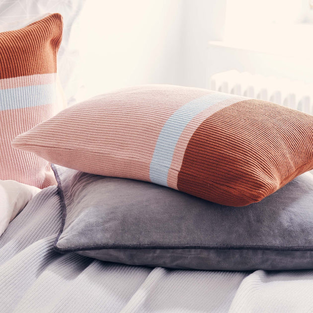 Light pink & Cognac & Ice blue Zezere Kissenhülle | Home & Living inspiration | URBANARA