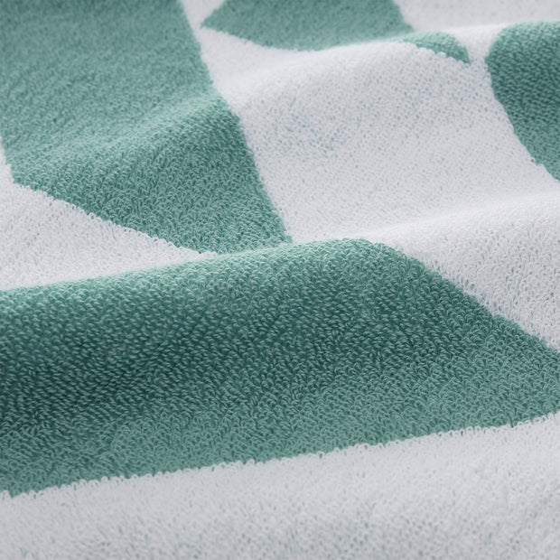Arua beach towel, aqua & white & papaya, 100% cotton |High quality homewares