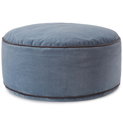 Deomali pouf, blue grey & dark grey, 100% cotton