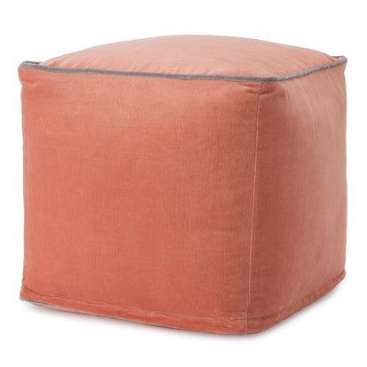 Godavari pouf, papaya & grey, 100% cotton