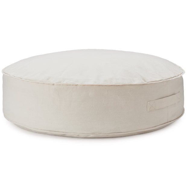 Nashik pouf, natural white, 100% cotton