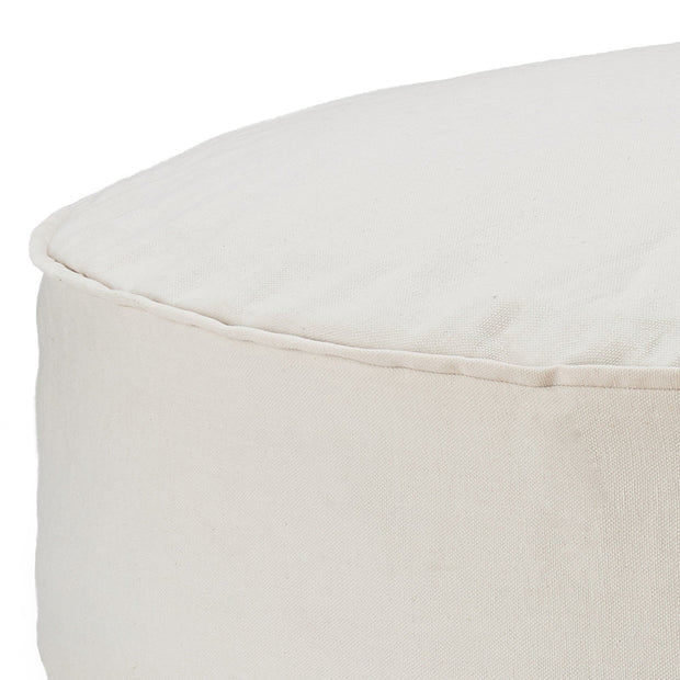 Natural white Nashik Pouf | Home & Living inspiration | URBANARA