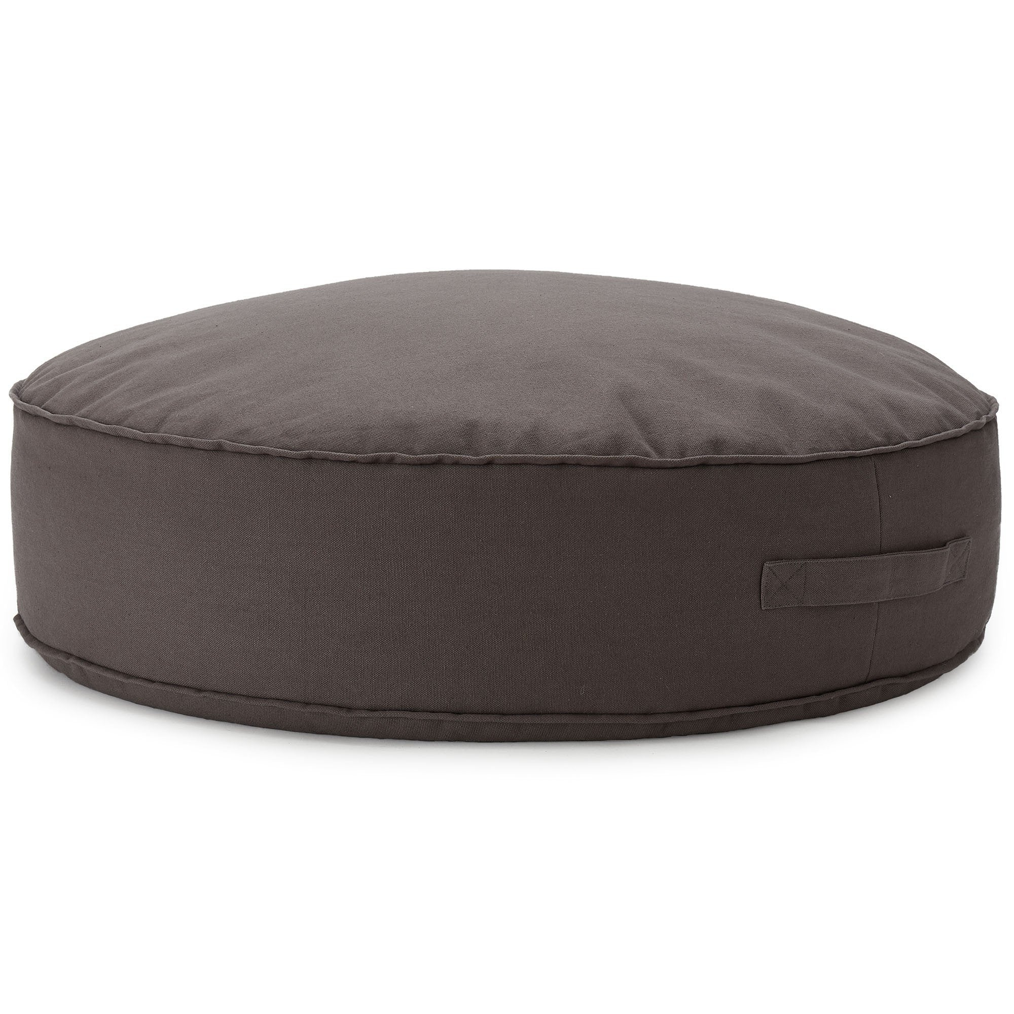 Nashik pouf, dark grey, 100% cotton