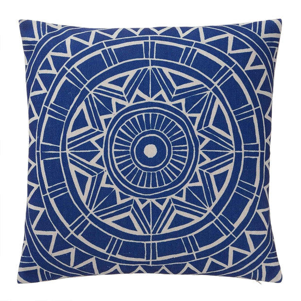 Annaside cushion cover, ultramarine & natural, 100% linen