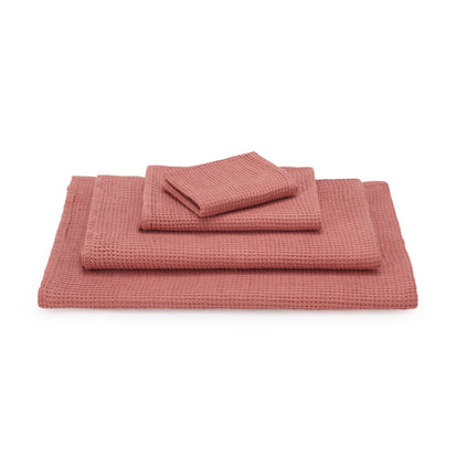 Neris hand towel, papaya, 100% linen