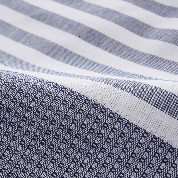 Kayseri hammam towel, dark blue & white, 100% cotton | URBANARA hammam towels