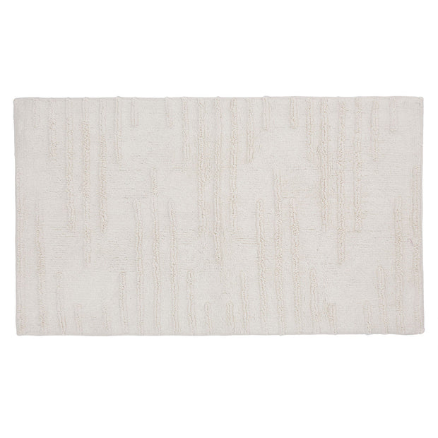 Eskil bath mat, natural white, 100% cotton