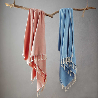 Cesme Hammam Towel in light blue & white | Home & Living inspiration | URBANARA