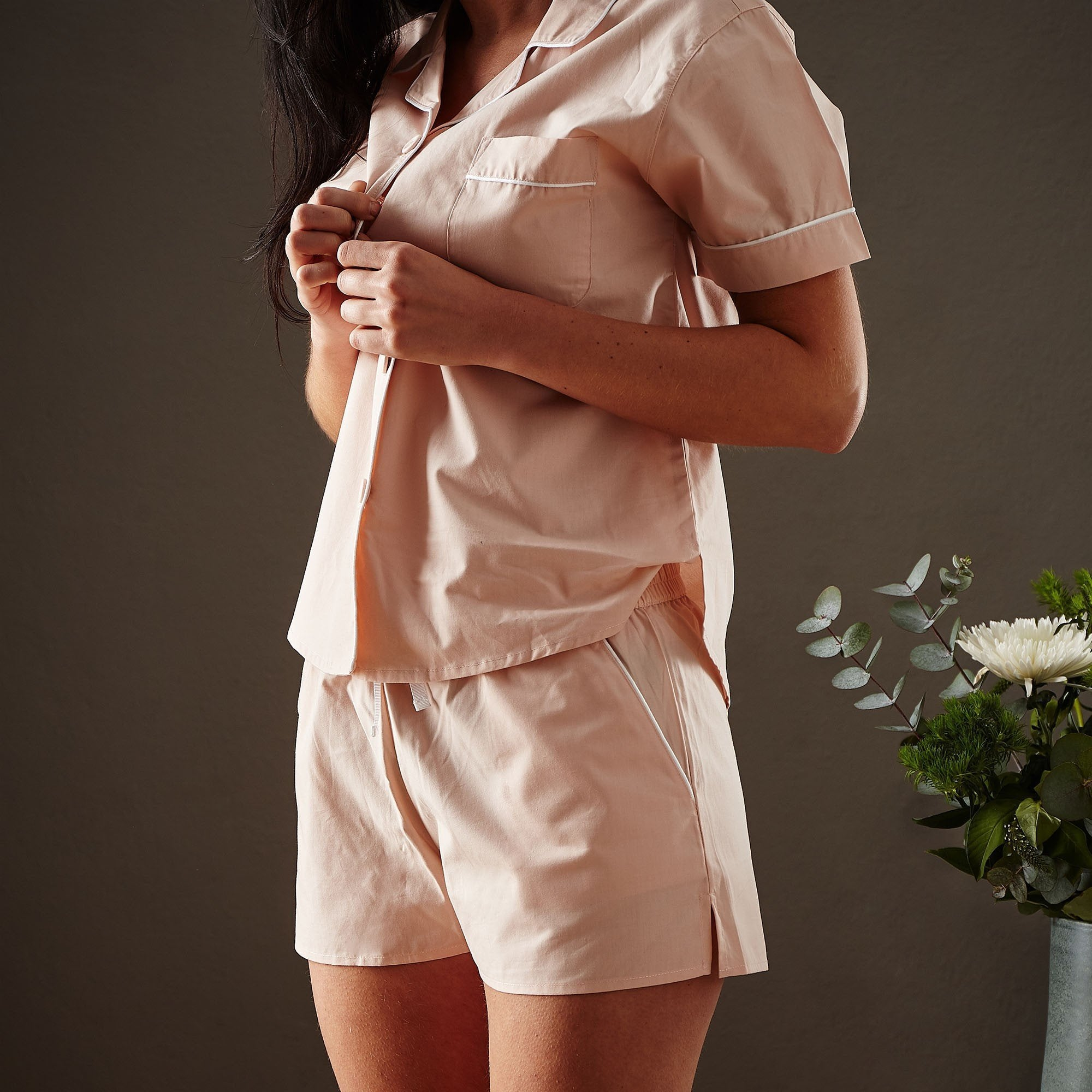 Light pink & White Alva Pyjama | Home & Living inspiration | URBANARA