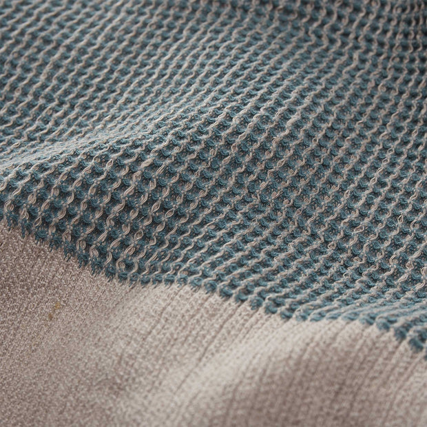 Kovai blanket, green grey & natural, 50% linen & 50% cotton |High quality homewares
