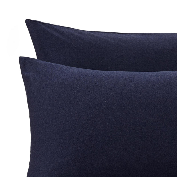 Darkblue melange Sabugal Bettdeckenbezug | Home & Living inspiration | URBANARA