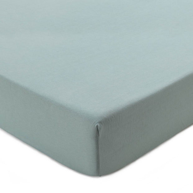 Samares fitted sheet, light grey green, 100% cotton