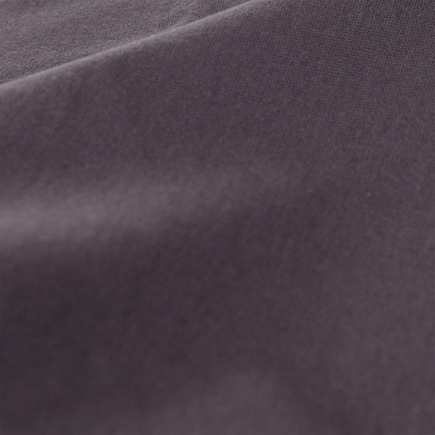 Samares fitted sheet, charcoal, 100% cotton | URBANARA fitted sheets