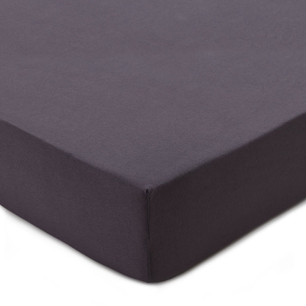 Samares fitted sheet, charcoal, 100% cotton