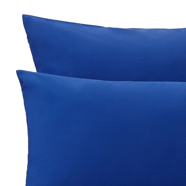 Perpignan duvet cover, ultramarine, 100% combed cotton | URBANARA percale bedding